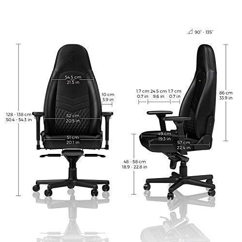 dimensions of noblechairs icon office chair seat height width
